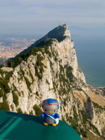 view--helloy kitty on the rock Gibraltar, Algeciras, Cadiz, Andalucia, Spain, Europe