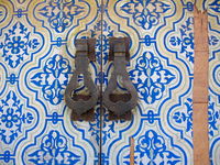 view--doors near palace badii Marrakech, Imperial City, Morocco, Africa