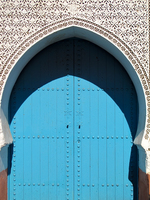 view--blue heaven gate of merdina Marrakech, Interior, Morocco, Africa