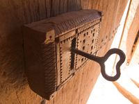 view--ancient lock Ouarzazate, Interior, Morocco, Africa