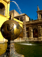 view--mercury pool lion head Seville, Andalucia, Spain, Europe