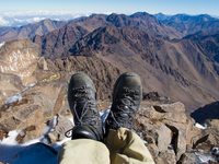 view--hiking toubkal Imlil, Atlas Mountains, Morocco, Africa