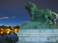 view--lion statue Madrid, Capital, Spain, Europe