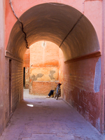 view--depression Marrakech, Interior, Morocco, Africa