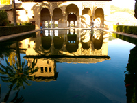 view--generalife reflection Granada, Andalucia, Spain, Europe