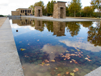 view--temple of debod Madrid, Capital, Spain, Europe