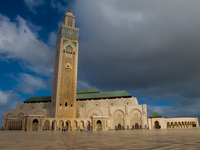 view--grand mosque of casablanca Casablanca, Marrakesh, Imperial City, Morocco, Africa