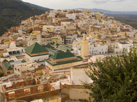 view--moulay idriss town Meknes, Moulay Idriss, Imperial City, Morocco, Africa