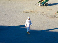 view--white holy man Marrakech, Interior, Morocco, Africa