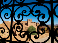 view--window to kasbah Ouarzazate, Interior, Morocco, Africa