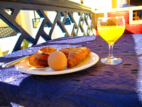 breakfast at hotel batha Fez, Imperial City, Morocco, Africa