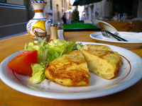 food--tortilla de espana Seville, Andalucia, Spain, Europe