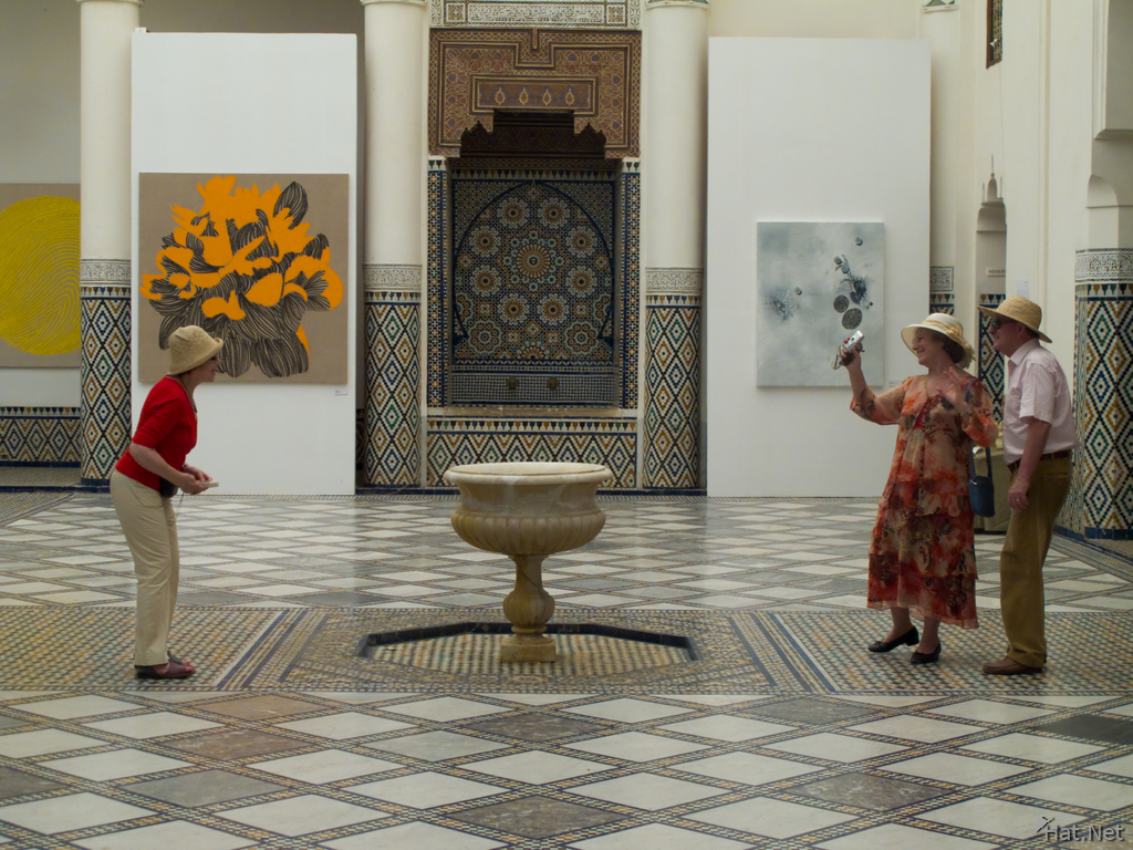 view--tourist in marrakech museum