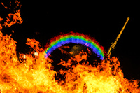 flaming rainbow Black Rock City,  Nevada,  United States, North America