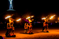 flame dance Black Rock City,  Nevada,  United States, North America