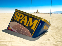 spam buried in desert Black Rock City,  Nevada,  United States, North America